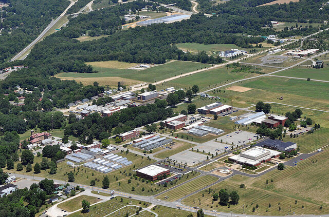 Aerial view of Wooster campus
